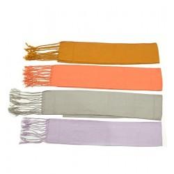 Faja lisa algodón 100% con flecos 12x140 cm.